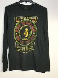 Authentic Bob Marley And The Wailers World Tour 1976 Vintage Long Sleeve Tees