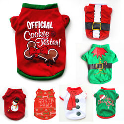 Pet Dog Clothes Christmas Costume Cute Cartoon Clothes For Small Dog Cloth Costu
