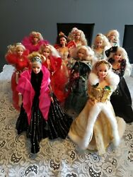 Happy Holidays Barbie Doll Collection Full Complete Set Of 11 Dolls 1988-1998