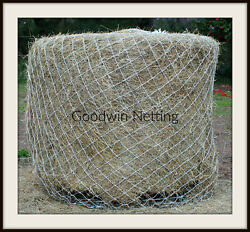 Horse Hay Round Bale Net Feeder 4 Save Eliminates Waste 5and039 X 5and039 Bales 48