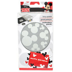 Scrapbooking Crafts Paper Punch Confetti Disney Mickey Mouse Head Ears 6 Sizes
