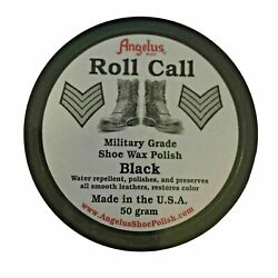 Angelus Roll Call Military Grade Shoe Wax Polish Black 50 grams Cadet Boots 50 g