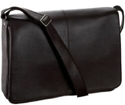 Latico Leathers Heritage Collection Front Flap Messenger Laptop Brief Bag 2413
