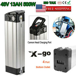 X-go 48v 13ah Silver Fish Li-ion E-bike Battery Pack For 500w Electric Bicycles