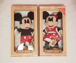 🔶️rare Boxed Australian Mickey And Minnie Mouse Disney Plush Soft Doll Toy 2011