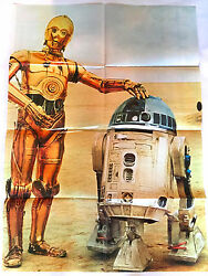 Star Wars Japan Official Poster Monthly Magazine No.1 1977 C-3po And R2-d2 R