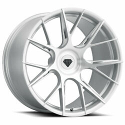22 Blaque Diamond Bd-f18 Silver Forged Wheels Rims Fits Bentley Continental
