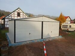 5x65 M Lagerboxen Metallgarage Blechgarage Lagercontainer Materialcontainer 2s
