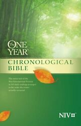 Niv One Year Chronological Bible The, Tyndale 9781414359939 Free Shipping-,