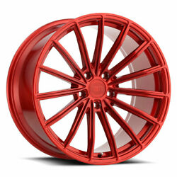22 Xo London Red 22x9 22x10.5 Concave Wheels Rims Fits Bentley Continental