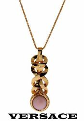 Gianni Versace Ladies Diamond Necklace In 18k Rose Gold New