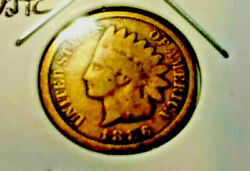 1886 Indian Head Cent-last Feather-reverse Points Between Canda This Is A Type Ii