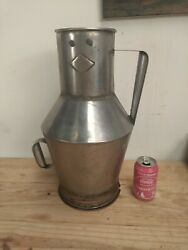 Vintage Portuguese Bowl Stainless Steel Olive Oil / Wine Tank Can 10l 2.64gal