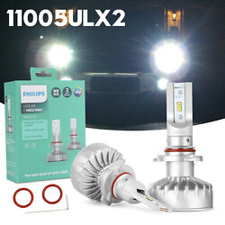 2X Philips HB3HB4 Ultinon LED 6000K +160% Brighter Pure White Car Headlight US