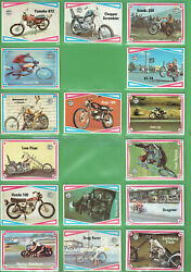 T309.  Part Set63/66 1974 Scanlens Choppers And Hot Bikes Cards