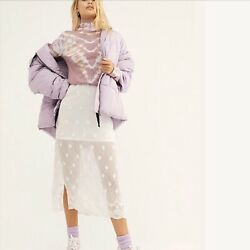 Free People Hailey Puffer Coat Jacket Lilac Cloud Large L Nwt Oba1023741 New