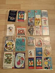 Rare Antique Vintage Misc Disney Collectible Tags Paper Plates Luggage Tags
