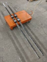 Rexroth Linear Guides Caged Bearing Lm 2 Rails 91and039and039 4 Blocks R1605 30 R2011 Sns