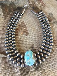 Golden Hills Turquoise And Sterling Silver Pearl Necklace