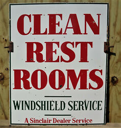 Sinclair Clean Restroom Sign With Hangers