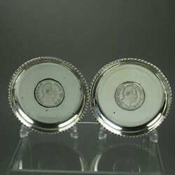 East India Company Miniature 1835 Silver Plated Rupee Trays British Anglo Indian