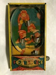 Vintage Football Game St Japan Dexterity Puzzle Rare Pinball Antique Toy