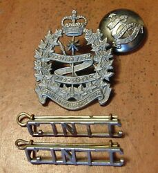 Canada Canadian Armed Forces Intelligence Corps Branch Cap + Collar Badges Qc