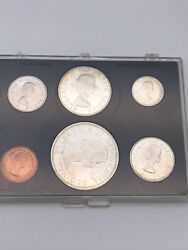 Rare 1964 Canadian Silver Mint Set In Plastic Holder