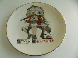 Norman Rockwell Christmas Medley Plate - 1984 - By Gorham