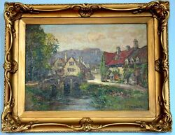 Ernest Llewellyn Hampshire 1882-1944 Authentic Antique British Oil Painting