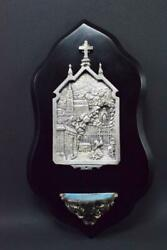 French Wall Holy Water Font Lourdes 19th.c