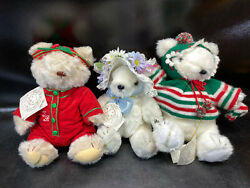 Lot Of 3 Teddy Bears Gorham Bear Collection Bear Of The Month 1984
