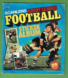 T315.  Set Of 1983 Scanlens Rugby League Stickers In Album