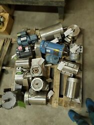 Lot Of Stainless Steel Wash Down Motors And Other Electric Motors