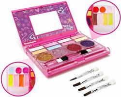Toys For Girls Kids Beauty Cosmetic Set Make Up Kit Eyeshadow Lip Gloss Blushes $14.99