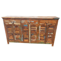 72 L Clark Sideboard Hand Crafted Recycled Solid Woods Rustic One Of A Kind