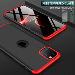 Slim Hybrid Shockproof Hard Thin Case Cover Tempered Glass for iPhone 11 Pro Max $10.95