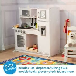 """Melissa & Doug Wooden Chef'S Pretend Play Toy Kitchen with """"Ice"""" Cube Dispens..."""