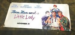 Three Men And A Little Lady Tom Selleck Huge Movie Theatre Banner Poster Rare