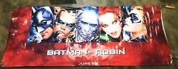 Batman And Robin George Clooney 1997 Huge Movie Theatre Banner Poster Rare