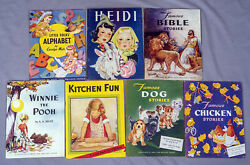 Vintage Heidi Winnie The Pooh More - 7 Childrenand039s Books Stover Illustrations