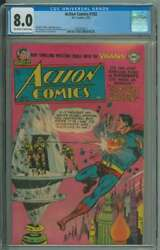 Action Comics 182 Cgc 8.0 Ow/wh Pages