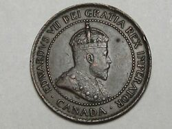 High-grade 1902 Canadian Large Cent Coin W/ Full Crown Edward Vii. Canada. 8