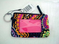 VERA BRADLEY ZIP ID COIN CREDIT CARD CASE PURSE IN TWILIGHT PAISLEY MINT + TAG