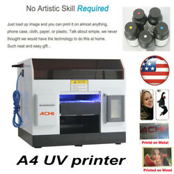 A4 Uv Printer Epson R330 Head For Phone Case Glass Metal Flat Wood 3d Embossed