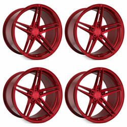 20 Rohana Rfx15 Red 20x9 Forged Concave Wheels Rims Fits Tesla Model S