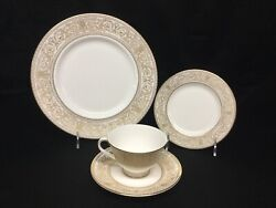 Royal Doulton Sovereign Dinnerware 6 Person 4 Piece Place Setting + 7 Pieces