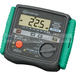 Rcd Tester Trip Time Auto-detection Of Contact Voltage Kyoritsu Kew 5410