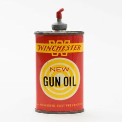 Vintage Red Yellow Can Of Winchester New Gun Oil 3 Fluid Ounces Size Empty