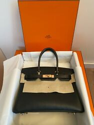 Hermes Birkin Black Touch Croco 30cm rose gold hardware